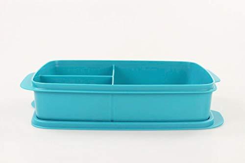 Tupperware to Go Lunchbox 1 L dunkeltürkis mit Trennwand Clevere Pause Schule...