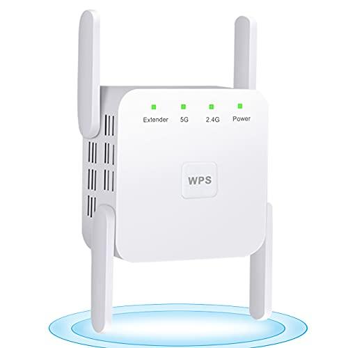 Dr.Lefran WLAN-Signalverstärker, 5G WiFi Repeater Verstärker Signal, WiFi...