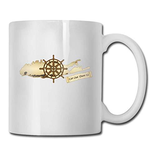 Long Island New York – Gotta Get Out There Keramik-Kaffeebecher, Büro,...
