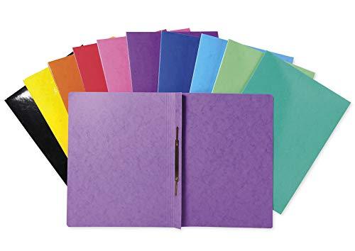 TimeTEX Set Schnellhefter aus Pappe A4-Plus - 25 Stück, farbig - in 10...