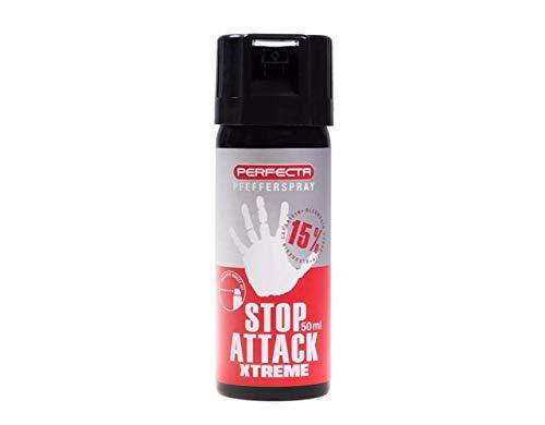 Perfecta Pfefferspray Pfeffer Spray 15% OC 50ml ballistische Verteilung...