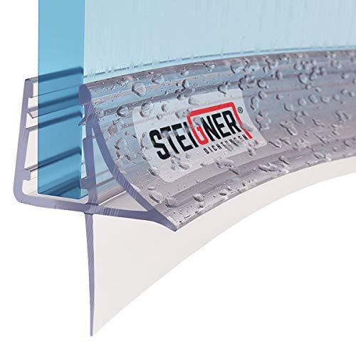 STEIGNER Duschdichtung, 90cm, Glasstärke 6/7/ 8 mm, Vorgebogene PVC...