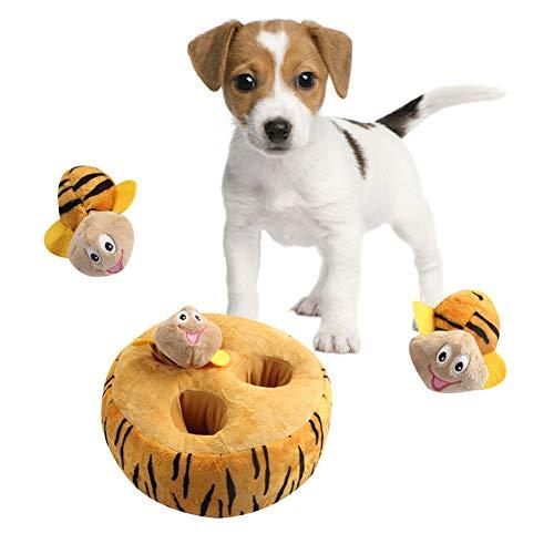 Sahgsa Pet Vocal Plüschtier Hund Molartraining Toy Interaktive Cartoon Puppe...