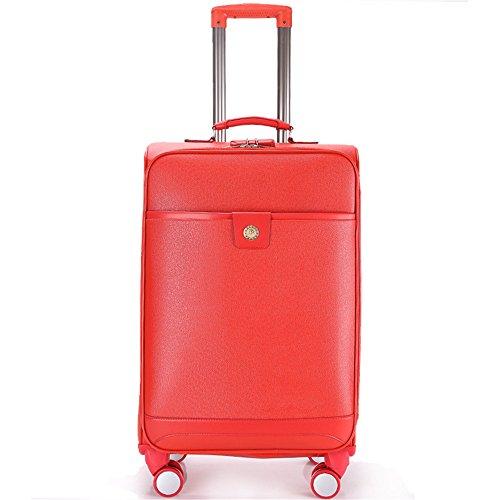Handgepäck Hartschalenkoffer Hochzeit Box Leder Case Code Box rot Universal...