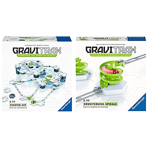GraviTrax 27597 Starter Kit STEM Activity,White & 26811 Ravensburger GraviTrax...