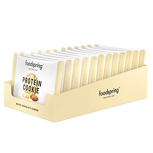 foodspring Protein Cookie, White Chocolate Almond, 12 x 50g, Viel Protein, Wenig...