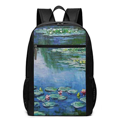 Schultertasche mit Wasserlilien Monet Schulranzen Reiserucksack 17 Zoll Laptop...