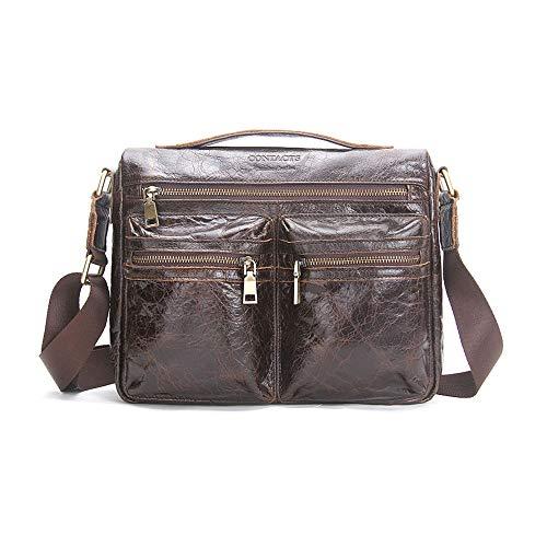 DLSMB Laptoptasche, Messenger Bag, Leder, 29,5 cm (11,2 Zoll) Multifunktionale...
