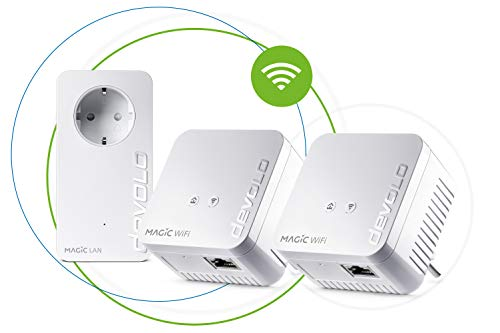 Devolo Magic 1 WiFi Mini Multiroom Kit (2 x Magic 1 WiFi Mini, 1 x Magic 2 LAN),...