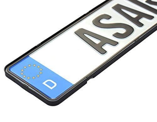 ASARAH Kennzeichenhalter Auto Rahmenlos, 2 Stück, inkl. Befestigungskit, ohne...
