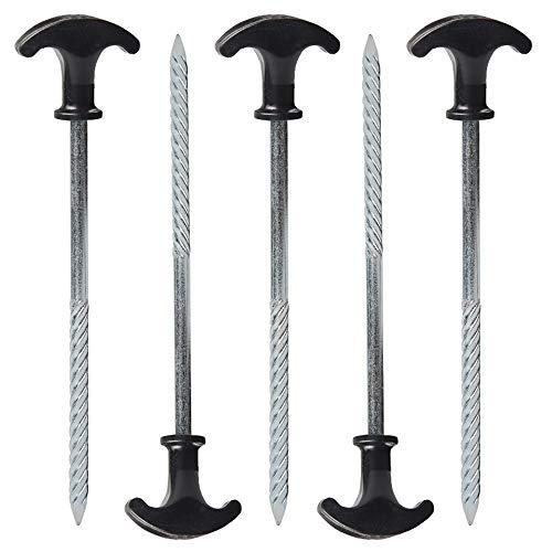 Langyinh Erdspieße aus robustem Stahl, Zeltheringe, langlebig, winddicht, zur...