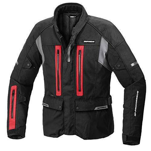SPIDI Motorradjacke für Herren Traveler 3, schwarz, rot, Größe L