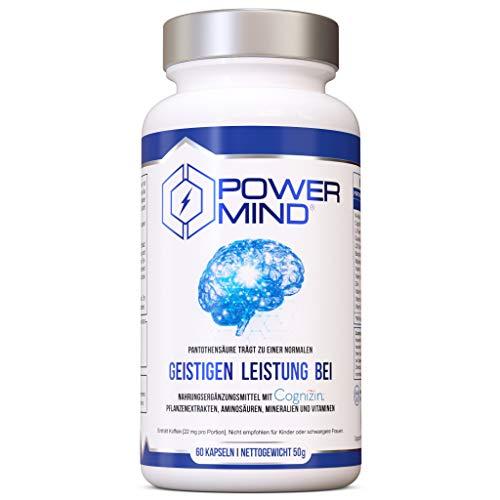 POWERMIND | Brain Booster Nootropische Nahrungsergänzung für Konzentration und...