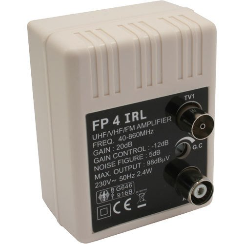 Transmedia FP4iRL Stecker Antennenverstärker (47-862MHz, Verstärkung 20dB,...