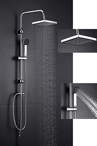 Duschsystem Regendusche mit Edelstahl Kopfbrause Duschgarnitur Duschsäule...