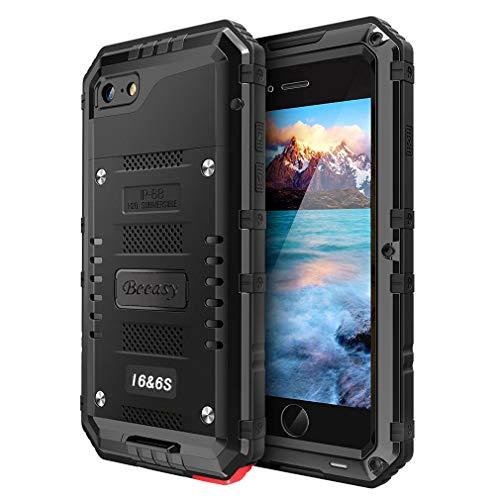 Beeasy Hülle Kompatibel mit iPhone 6 / 6S, Wasserdicht Stoßfest Outdoor Handy...