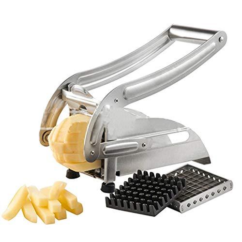 QYHSS Kartoffelhacker, Edelstahlkartoffeln Veg Sticks Slicer, Pommes Frites...