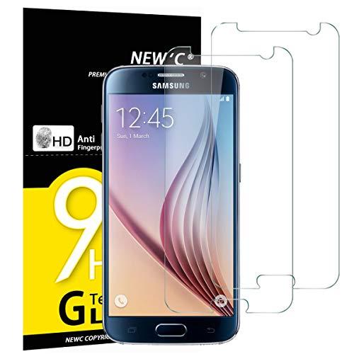 NEW'C 2 Stück, Schutzfolie Panzerglas für Samsung Galaxy S6, Frei von...