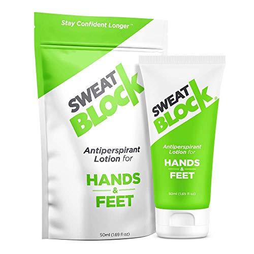 SweatBlock Antitranspirant-Lotion Für schwitzende Hände Und Füße,...