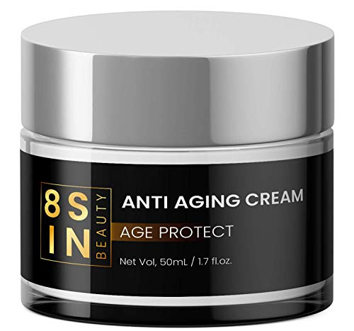 8 SIN   Anti-Aging Creme   Hyaluronsäure   Feuchtigkeitspflege für Gesicht und...