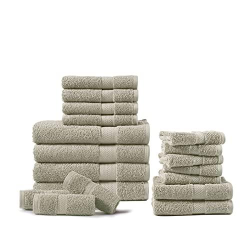 Platinum Badetücher aus 100 % gekämmter Baumwolle, 18-teilig, 600 g/m²,...