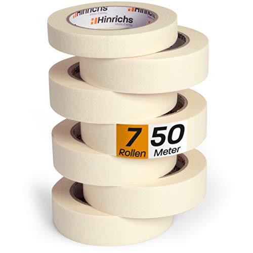 Hinrichs 7 x Kreppband - 6 Rollen 50 m x 30 mm + 1 Rolle 50 m x 19 mm -...