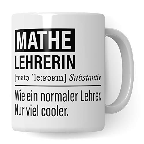 Mathelehrerin Tasse, Geschenk für Mathe Lehrerin, Kaffeetasse Geschenkidee...