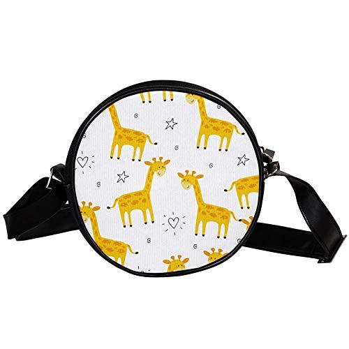 Bennigiry DEYYA Damen Umhängetasche/Schultertasche mit Giraffe, rund