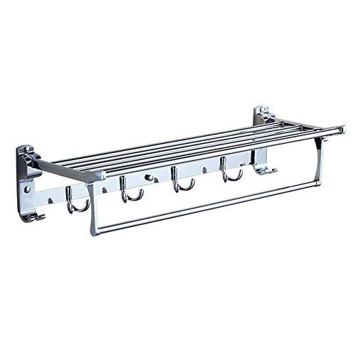 TZSMWY Handtuchhalter Handtuch Rod-Badezimmer Folding Handtuchständer Edelstahl...