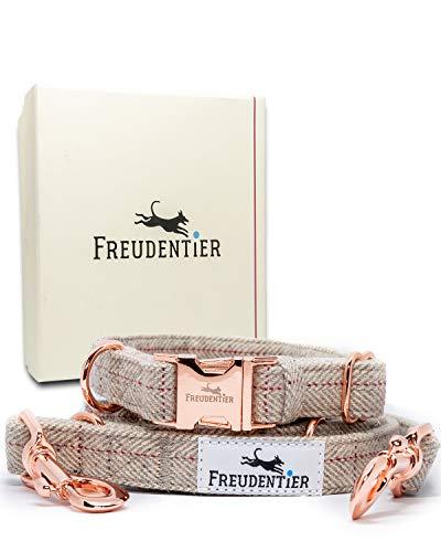 Freudentier Hundeleine (2m) + Hundehalsband im Set | Inkl. Geschenkbox |...