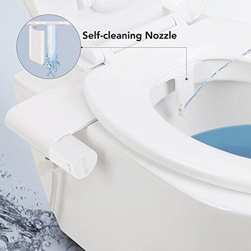 MARNUR Bidet Toilettenaufsatz mit Frischwasserspray und Selbstreinigender Düse...