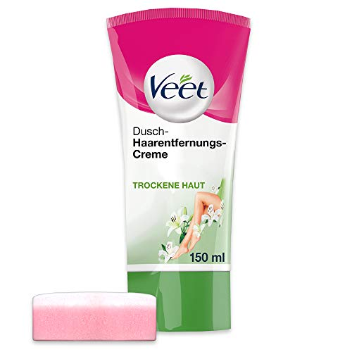 Veet Dusch-Haarentfernungscreme Silky Fresh, Schnelle & Effektive Haarentfernung...