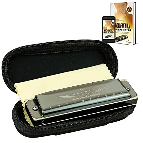 XALANI Mundharmonika inkl. Soft Case und Pflegetuch I Bonus: E-Book gratis I...