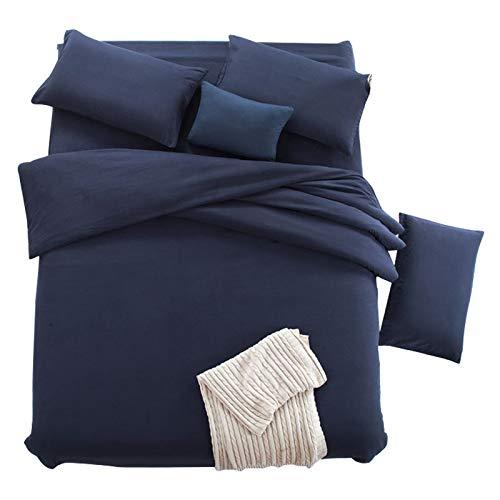 CXLSolid Color Four-Piece Suit Double Color Matching Four-Piece Bedding...