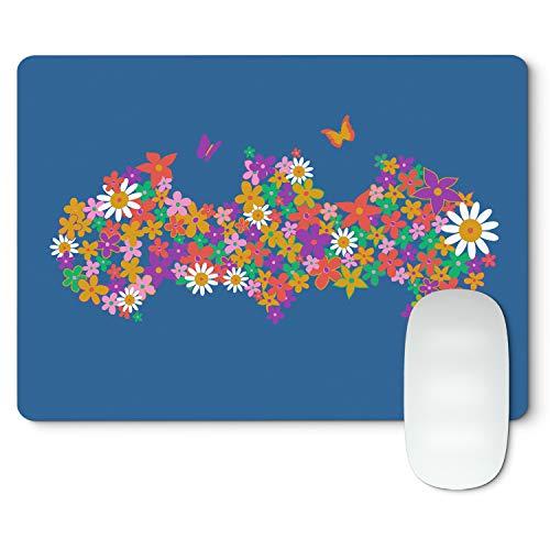 BE8EIGHT 8 BITS WEAR Mauspad Logo Bataman Flower – Gamer-Mauspad weich...