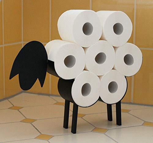 DanDiBo Toilettenpapierhalter Schwarz Metall Schaf WC Rollenhalter Freistehend...