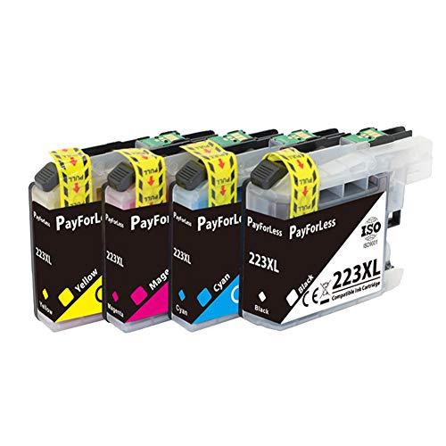 4 PayForLess Ersatz für Brother LC-223XL für Brother MFC J5320DW J4120DW...