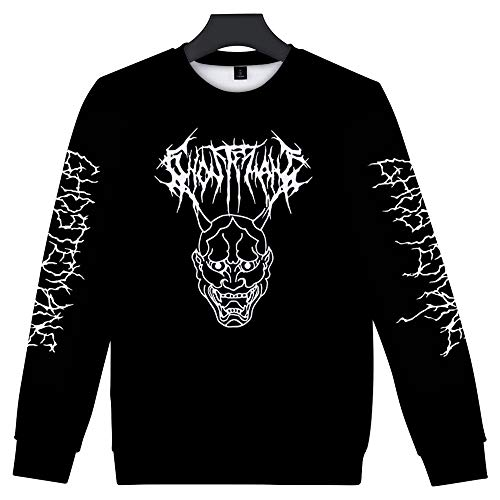 WAWNI Streetwear Ghostemane Sweatshirts, Rundhalsausschnitt, lange Ärmel,...