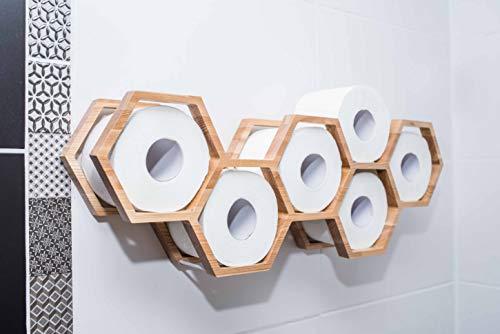 Holz Toilettenpapierhalter Toilettenpapierablage Holzhalter für Toilettenpapier...