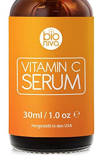 Bioniva Vitamin C Serum für Ihr Gesicht mit 20% Vitamin C + Hyaluronsäure +...