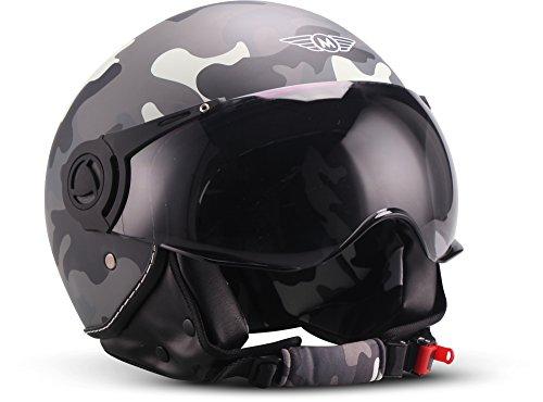 "Moto Helmets H44 ""Camouflage"" · Jet-Helm · Motorrad-Helm Roller-Helm..."