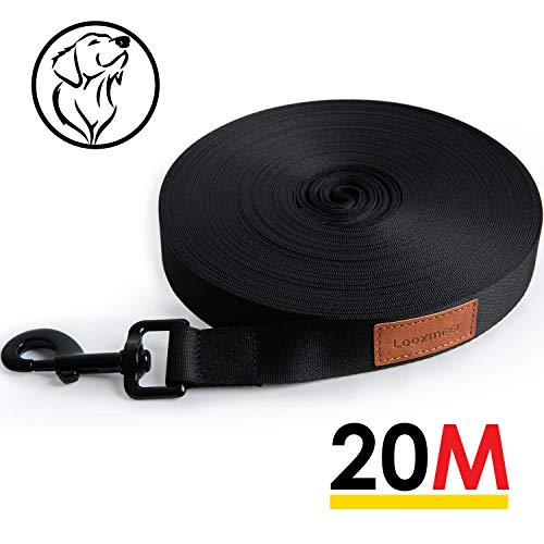 Looxmeer Schleppleine für Hunde, 10m / 20m Robuste Hundeleine Trainingsleine...