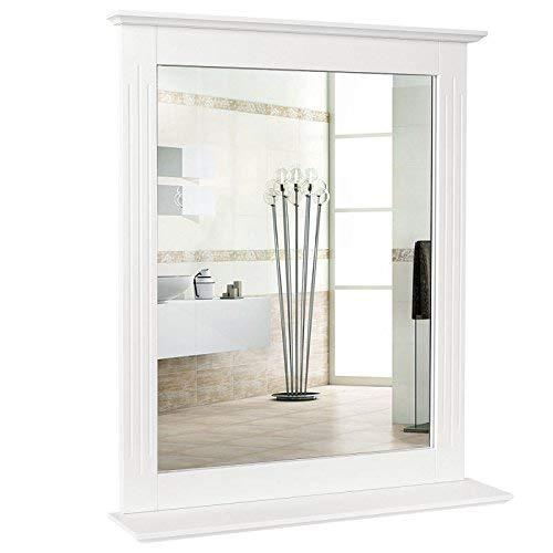 HOMFA 50x60cm Wandspiegel Badspiegel mit Ablage Hängespigel Spiegel für...