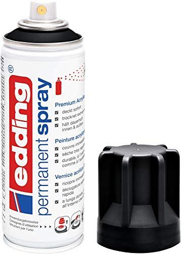 edding 5200 Permanent Spray - tiefschwarz matt - 200 ml - Acryllack zum...
