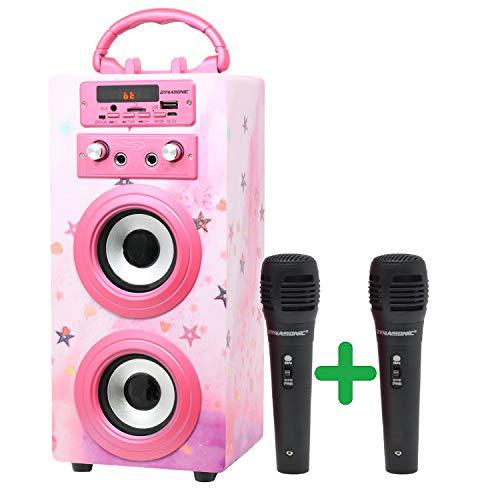 DYNASONIC (3. Generation | Tragbarer Karaoke-Bluetooth-Lautsprecher mit...