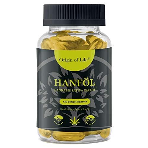 HANFÖL Kapseln - hochdosiert & kaltgepresst | Cannabis Sativa | echte 1000mg je...