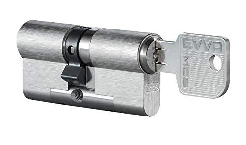 EVVA MCS Doppelzylinder mit 3 Schlüssel + Sicherungskarte,...