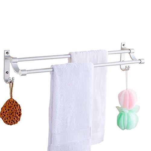 TZSMWY Handtuchhalter Handtuchhalter-Punch-freie Punching Doppel Pole...