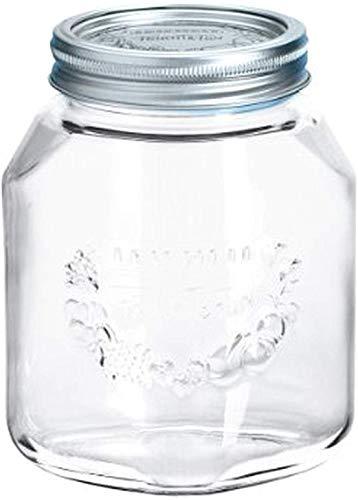 Leifheit Einkochglas 1 L, formschönes Einmachglas mit Deckel und Ring,...