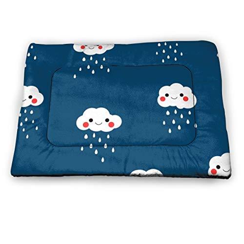 SKY-STAR Skystar Haustierbett, weiße Regenwolken mit roten Wangen, beruhigendes...